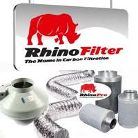 "8"""" 200mm Rhino Carbon Filter, Rvk Fan and Duct Kit L1"