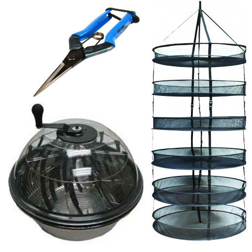 "16"" Bowl Trimmer + Free Lighthouse Drying Net and Scissors"